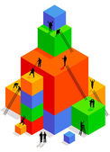 Kostky stavební — Stock vektor
