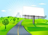 Billboard at the road — Vecteur
