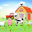 Farm animals — Vettoriali Stock