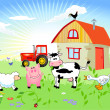Stock vektor: Farm animals