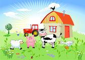 Farm animals — Stock Vector