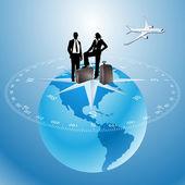 World Travel — Stock Vector