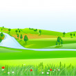 Hilly landscape — Stock Vector