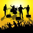 Royalty-Free Stock Vector Image: Open air concert