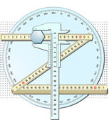 Accurately measured — Stock Vector