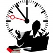 Stock Vector: Lack of time