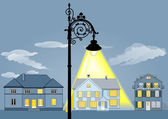 Family house lights — Stock Vector