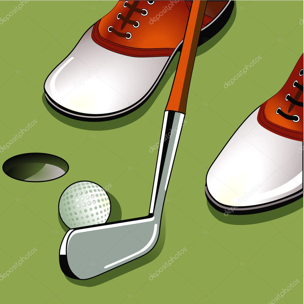 Golf putting — Stock Vector #6063654