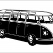 Classic Camping Microbus — Stock Vector #6159655