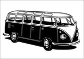 Classic Camping Microbus — Stock Vector