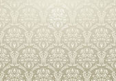 Textile wallpaper ornament warm gray — Stock Vector