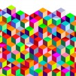 Color Cubes background — Stock Vector #6256459
