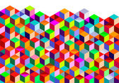 Color Cubes background — Stock Vector