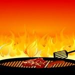 Barbecue-Grill-Feuer — Stockvektor
