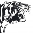 Tigers sign in black and white — Stock Vector