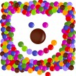 Color chips made happy Teddy — Imagen vectorial