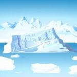 iceberg e geleira — Vetorial Stock