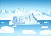Iceberg and glacier — Stock Vector