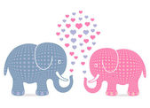 Elephant love — Stock Vector