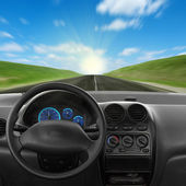 Inside car — Stockfoto