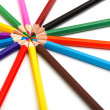 Stock Photo: 14 color pencils