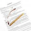 Legal contract papers — Stock Photo