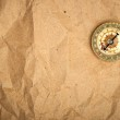 Vintage compass on the paper — Stock Photo