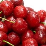 Berries ripe cherry on a white — Stock Photo