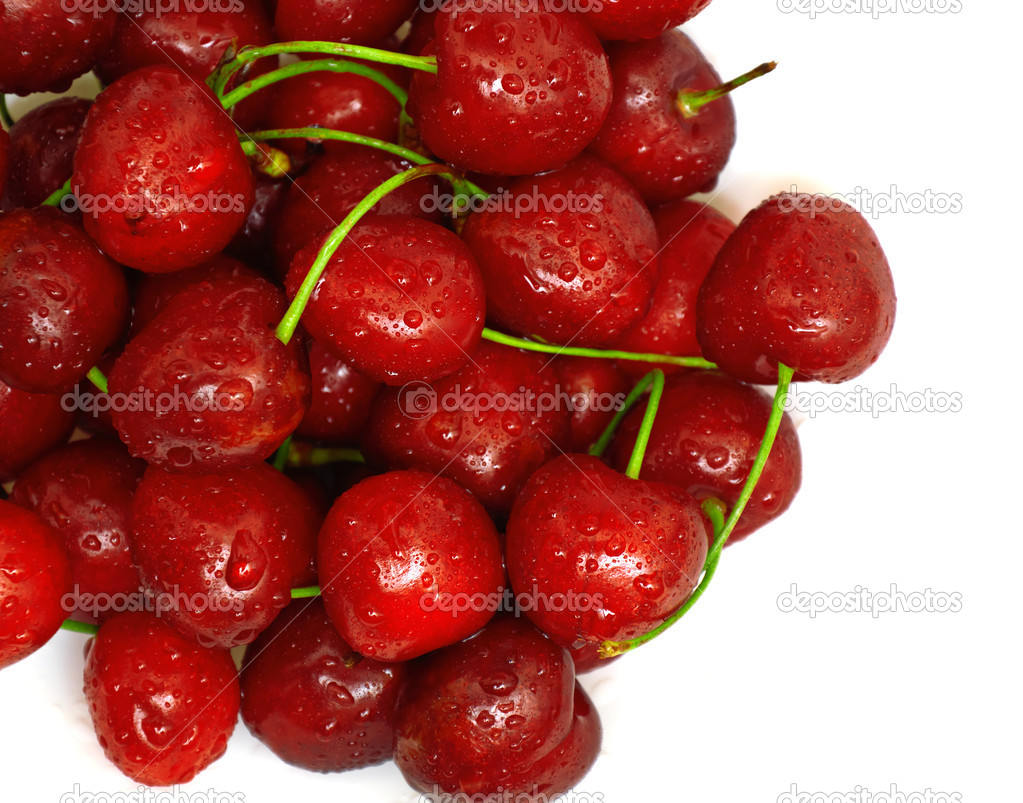 Berries ripe cherry on a white isolated background. Studio — Stock Photo #6314503