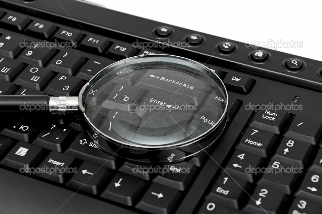 Magnifying glass, concept of on line search — Stock Photo #6314539