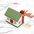 Stock Photo: Housing market concept image with graph