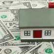 Mini house on Us dollars, — Stock Photo