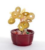 ゴールド コインのツリー — ストック写真