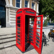 Old red telephone box in London — Stock Photo
