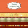 Vintage valentine&#039;s day card - Imagen vectorial