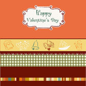 Vintage valentine's day card — Vetorial Stock