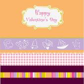 Vintage valentine's day card — Stok Vektör