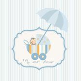 Anúncio do chuveiro de bebê — Vetor de Stock