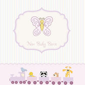 New baby born announcement card — Stock Vector