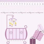 Baby girl shower invitation — Stock Photo