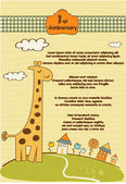 Customizable cute background with little giraffe — Stock Photo
