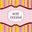 Best friends card — Stock Photo