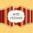 Best friends card - Stock Photo