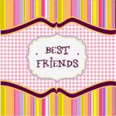 Best friends card — Stock Photo