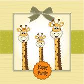 Happy, giraffe family — Stock Photo