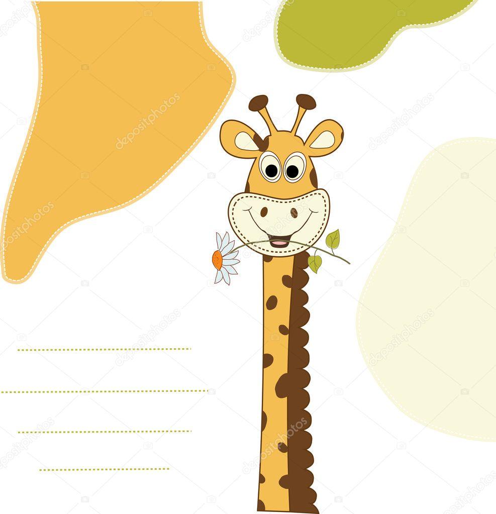 Открытки жираф день рождения