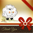 Thank you greeting card - 图库照片