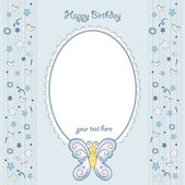 Butterfly birthday card — Stock Photo