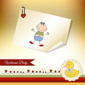 Welcome baby greeting card — Stock Photo
