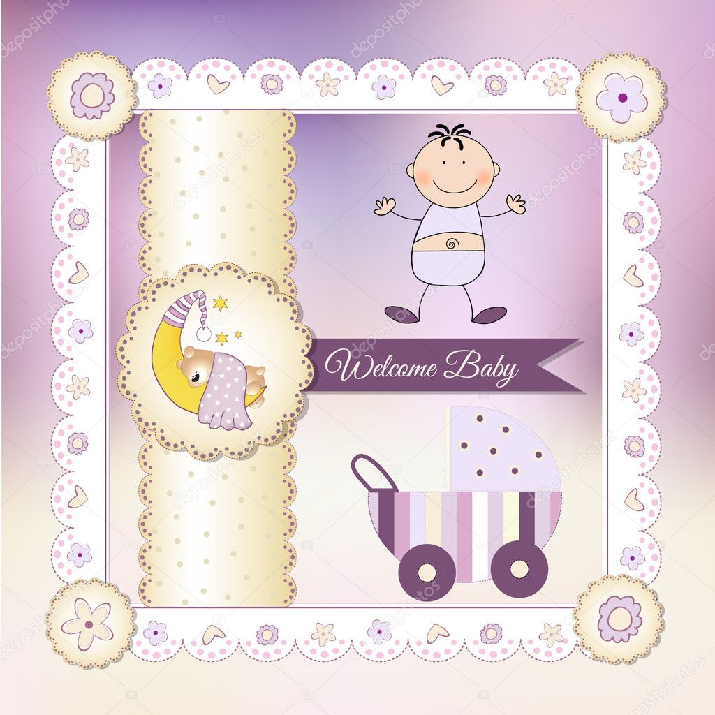 depositphotos 5562236 Newborn baby greeting card  It would be really fun to do an adult version of these!